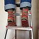 Носки, Чулки ручной работы. Носки вязаные Christmas. Pentu ручное вязание. Интернет-магазин Ярмарка Мастеров. Носки вязаные