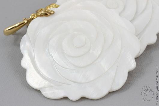 Серьги ручной работы. Ярмарка Мастеров - ручная работа. Купить Серьги Белая роза. Handmade. Белый, перламутровые серьги, для невесты
