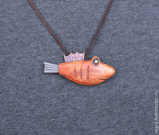 """Кулоны, подвески ручной работы. Ярмарка Мастеров - ручная работа. Купить Нож кулон  """"Акулёнок"""". Handmade. Коричневый, нож, акула"""