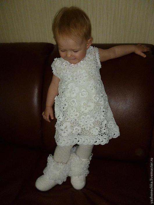 Одежда для девочек, ручной работы. Ярмарка Мастеров - ручная работа. Купить Платье из хлопка для девочки Жемчужинка. Handmade. Платье для девочки