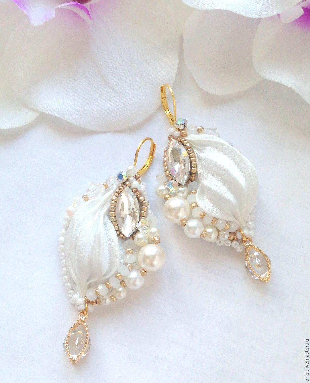 Handmade Bead,earrings wedding,beaded jewelry,Shibori Earrings ...