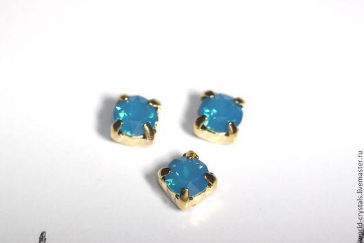 Кристаллы № 394 Caribian Blue Opal.  Ювелирные касты по золото