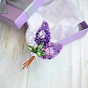 Украшения handmade. Livemaster - original item Brooch Lilac. Handmade.