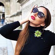 Украшения handmade. Livemaster - original item Stylish author`s brooch Fashion Diva. Handmade.