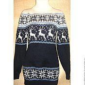 Одежда ручной работы. Ярмарка Мастеров - ручная работа Свитер с норвежским орнаментом. Handmade.