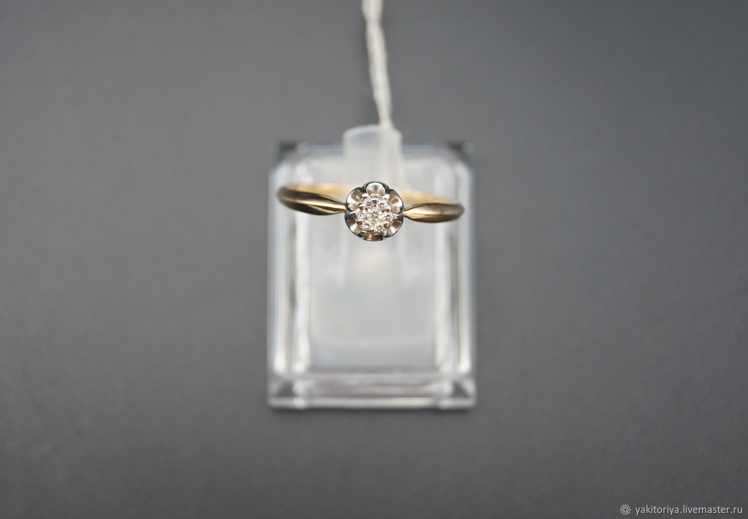 585 gold ring with natural diamonds, Rings, Moscow,  Фото №1