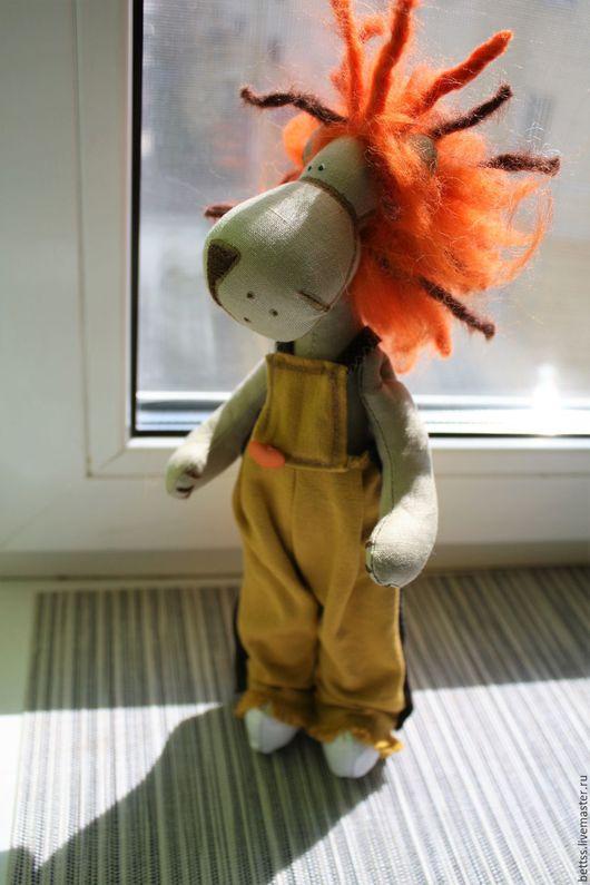 """Игрушки животные, ручной работы. Ярмарка Мастеров - ручная работа. Купить """"Огнегривый лев"""" текстильная игрушка. Handmade. Рыжий"""