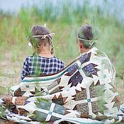 Для дома и интерьера ручной работы. Ярмарка Мастеров - ручная работа лоскутный плед Индейское племя. Handmade.