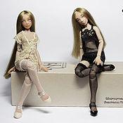Куклы и игрушки handmade. Livemaster - original item Lisa and Mila (12.5 cm). Handmade.