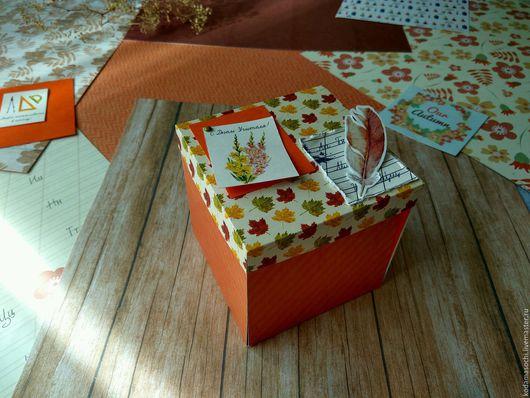 Открытки к другим праздникам ручной работы. Ярмарка Мастеров - ручная работа. Купить Открытка - коробочка на День Учителя. Handmade.