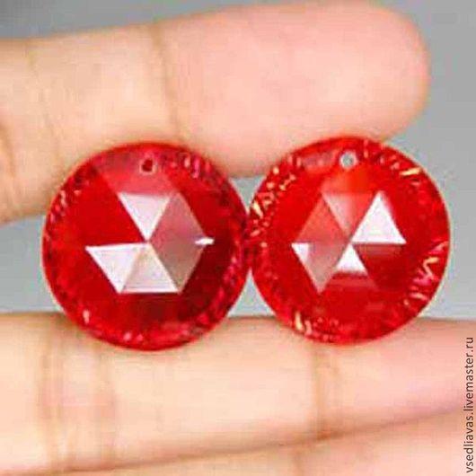 Для украшений ручной работы. Ярмарка Мастеров - ручная работа. Купить пара Red topaz (лаб)  33.32 карат. Handmade.