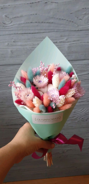 Букеты с сухоцветами, Цветы сухие и стабилизированные, Москва,  Фото №1
