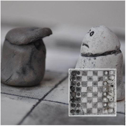 Подарки для мужчин, ручной работы. Ярмарка Мастеров - ручная работа. Купить Старые Шахматы. Handmade. Чёрно-белый, старые вещи