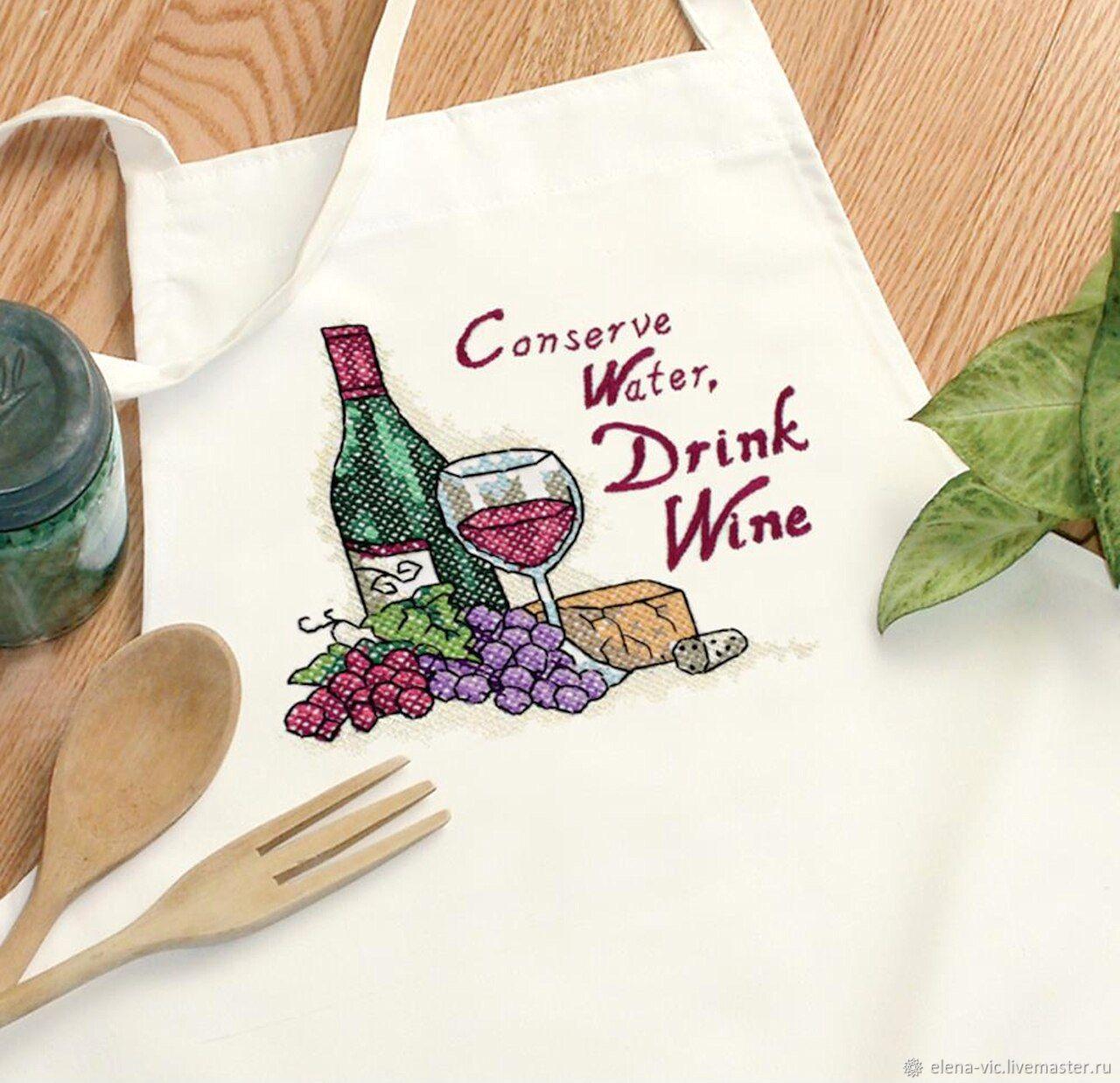 """Набор для вышивания Dimensions """"Drink wine"""", Схемы для вышивки, Смоленск,  Фото №1"""
