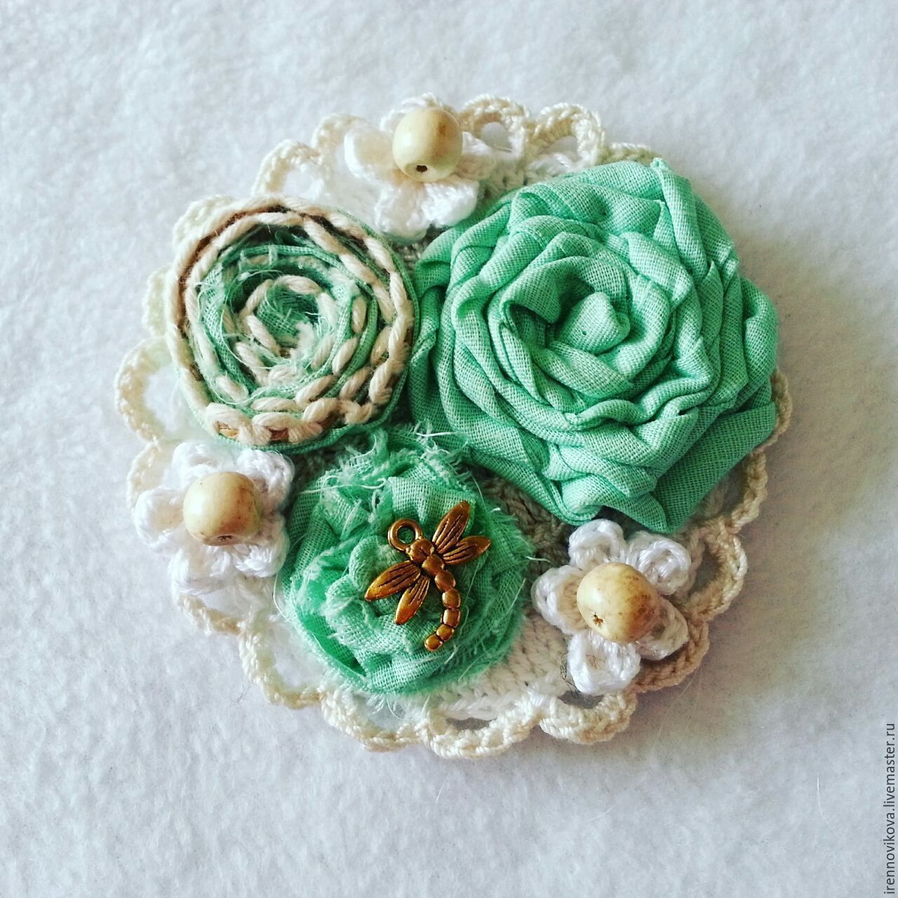 Brooch textile design, Brooches, Moscow,  Фото №1