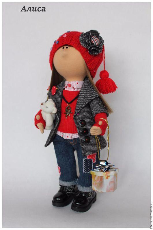 Коллекционные куклы ручной работы. Ярмарка Мастеров - ручная работа. Купить Алиса. Handmade. Ярко-красный, кукла интерьерная