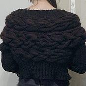 Одежда ручной работы. Ярмарка Мастеров - ручная работа Коричневый жакет из кос. Handmade.