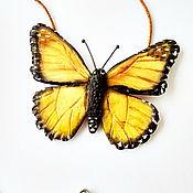 Украшения handmade. Livemaster - original item Polymer clay pendant Butterflies flutter. Handmade.