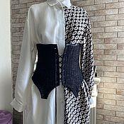 Одежда handmade. Livemaster - original item Corsets: Tweed peplum Corset. Handmade.