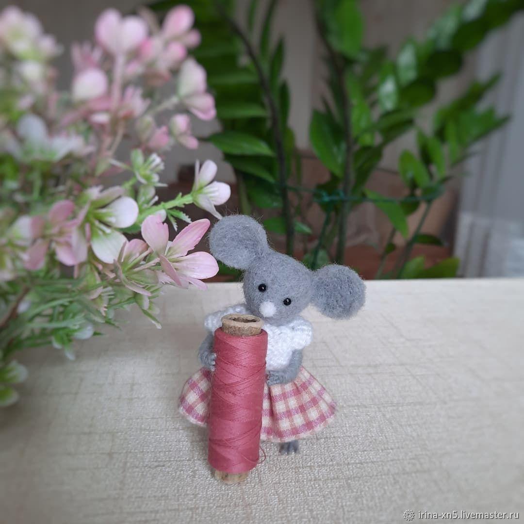 Мышка малышка, Войлочная игрушка, Харьков,  Фото №1