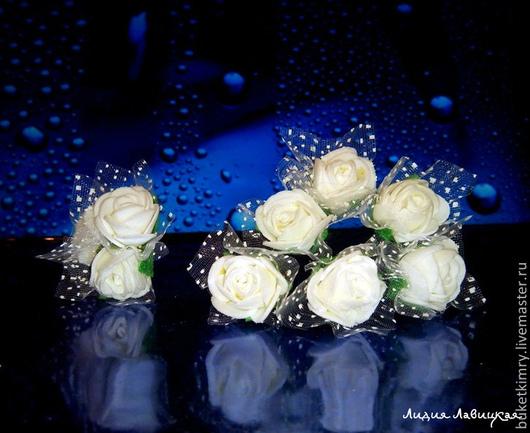 """Свадебные украшения ручной работы. Ярмарка Мастеров - ручная работа. Купить Шпильки (набор) в прическу """"Я красивая"""". Handmade. Белый"""