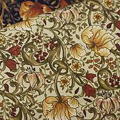 Материалы для творчества ручной работы. Ярмарка Мастеров - ручная работа Ткань для пэчворка Физалис. Handmade.