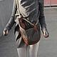 Женские сумки ручной работы. Заказать Сумка-рюкзак-трансформер. Guten-puppen. Ярмарка Мастеров. Коричневый, рюкзак