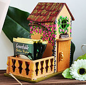 Для дома и интерьера handmade. Livemaster - original item Mini house with patio. Handmade.