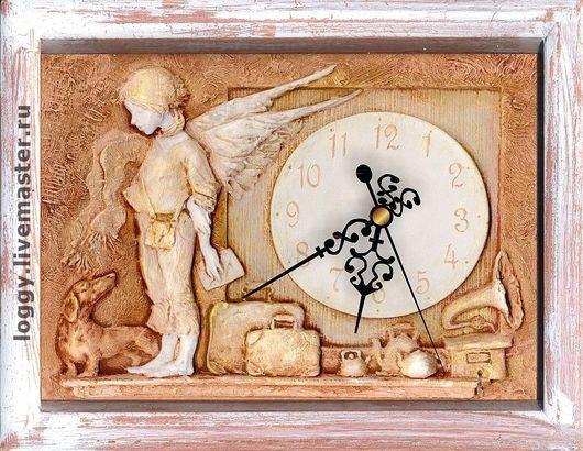 Часы для дома ручной работы. Ярмарка Мастеров - ручная работа. Купить Почтовый ангел. Handmade. Ангел, подарок на день рождения