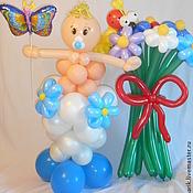 Подарки к праздникам ручной работы. Ярмарка Мастеров - ручная работа Малыш с бабочкой  и букетом -композиция для встречи из роддома. Handmade.