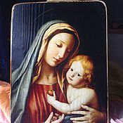 Картины и панно ручной работы. Ярмарка Мастеров - ручная работа Мария с Младенцем.. Handmade.
