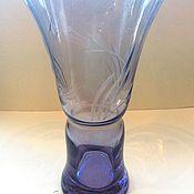 Винтаж handmade. Livemaster - original item Vase alexandrite glass LZHS. Handmade.
