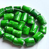 Материалы для творчества ручной работы. Ярмарка Мастеров - ручная работа Коралл зеленый столбики. Handmade.