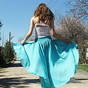 Одежда handmade. Livemaster - original item Summer lightweight skirt Blue lagoon. Handmade.