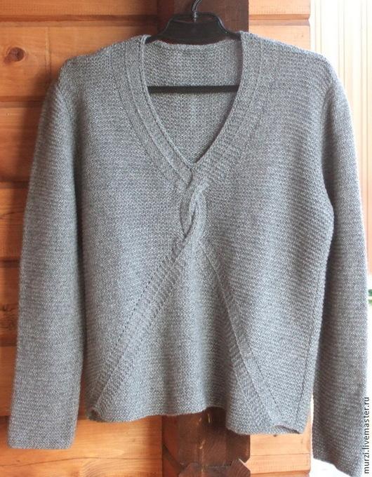 """Кофты и свитера ручной работы. Ярмарка Мастеров - ручная работа. Купить Пуловер """"Север"""". Handmade. Серый, меринос"""
