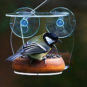 Для дома и интерьера handmade. Livemaster - original item Bird feeder made of wood and acrylic