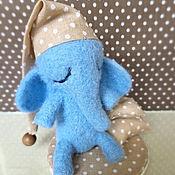 Куклы и игрушки ручной работы. Ярмарка Мастеров - ручная работа Слоник сонный, валяная игрушка. Handmade.
