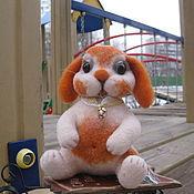 """Куклы и игрушки ручной работы. Ярмарка Мастеров - ручная работа Зайчик """"рыжее пятнышко"""". Handmade."""