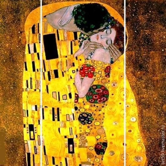 triptych in explanation of the ingenious artist G. Klimt
