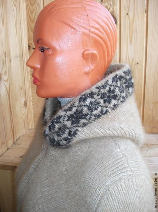 Кофты и свитера ручной работы. Ярмарка Мастеров - ручная работа. Купить Куртка из собачьей шерсти с капюшоном. Handmade. Бежевый