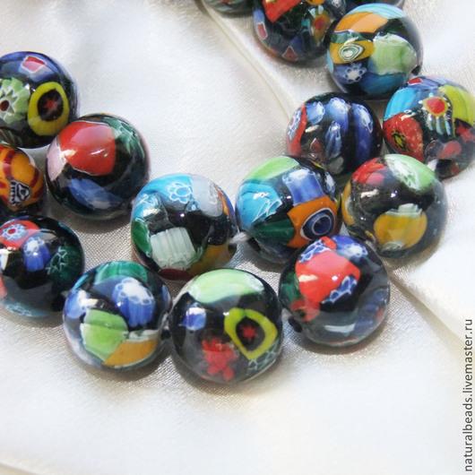 Для украшений ручной работы. Ярмарка Мастеров - ручная работа. Купить МИЛЛЕФИОРИ АФРИКАНСКОЕ шар стеклянные бусины ручной работы Африка. Handmade.