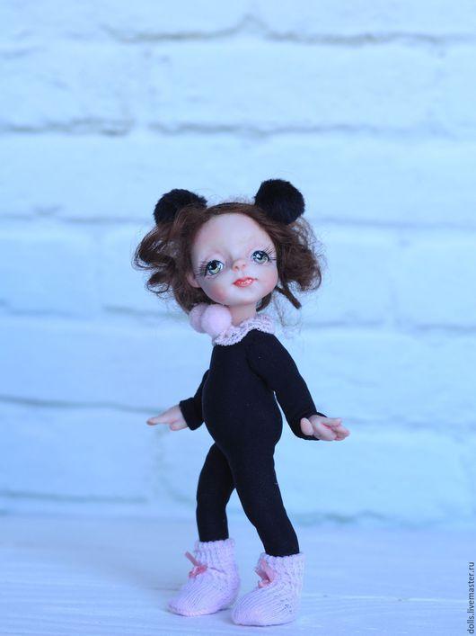 Коллекционные куклы ручной работы. Ярмарка Мастеров - ручная работа. Купить Мышка Люси. Handmade. Розовый, подарок, авторская роспись