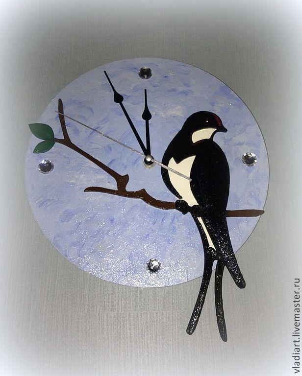 """Настенные часы """"Ласточка касаточка"""", Часы, Москва, Фото №1"""