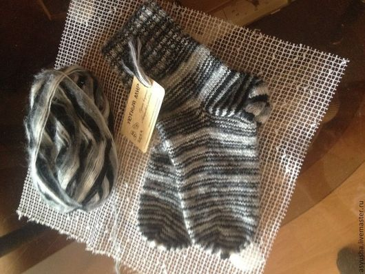 Носки, Чулки ручной работы. Ярмарка Мастеров - ручная работа. Купить носки ручной работы (мохер). Handmade.