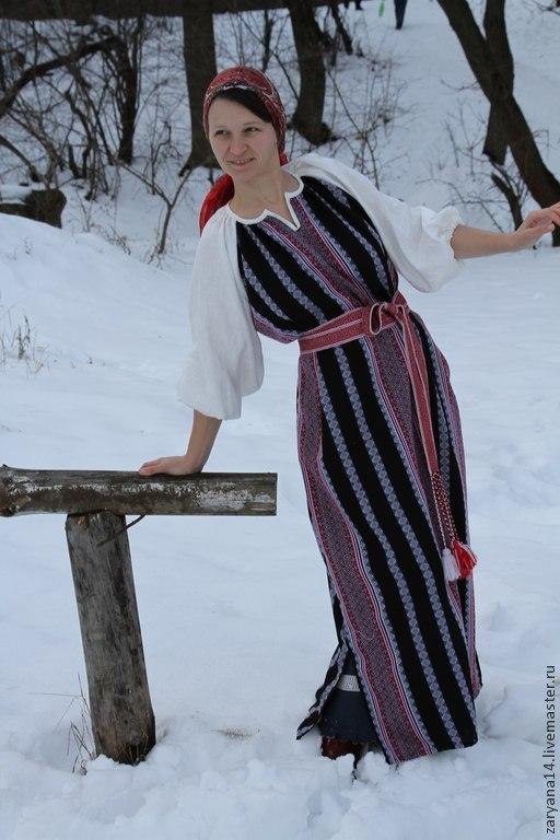 """Одежда ручной работы. Ярмарка Мастеров - ручная работа. Купить Платье """"Чара"""". Handmade. Обережный орнамент, славянское платье, акрил"""