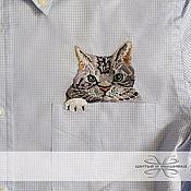 Одежда handmade. Livemaster - original item Men`s shirt with embroidery ivory. Handmade.