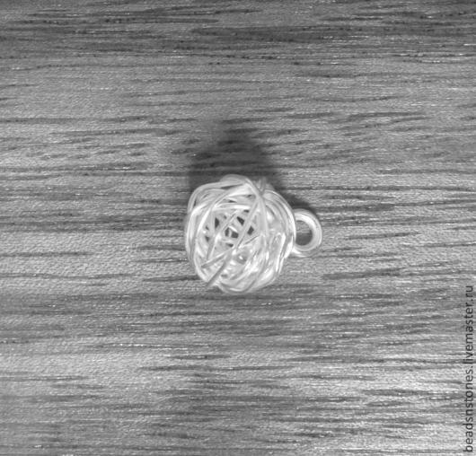 Для украшений ручной работы. Ярмарка Мастеров - ручная работа. Купить Подвеска SKS210 клубочек, серебро, ручная работа. Handmade.