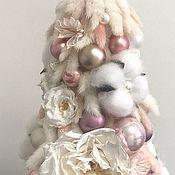 Композиции ручной работы. Ярмарка Мастеров - ручная работа Ёлочка из сухоцветов и стабилизированных роз. Handmade.