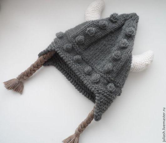 Шапки ручной работы. Ярмарка Мастеров - ручная работа. Купить Шапка викинга. Handmade. Серый, мужская шапка, оригинальная шапка