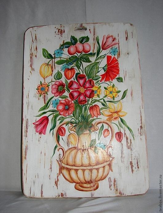 Кухня ручной работы. Ярмарка Мастеров - ручная работа. Купить Подарок женщине. Доска расписная по мотивам росписи 17 в.. Handmade.